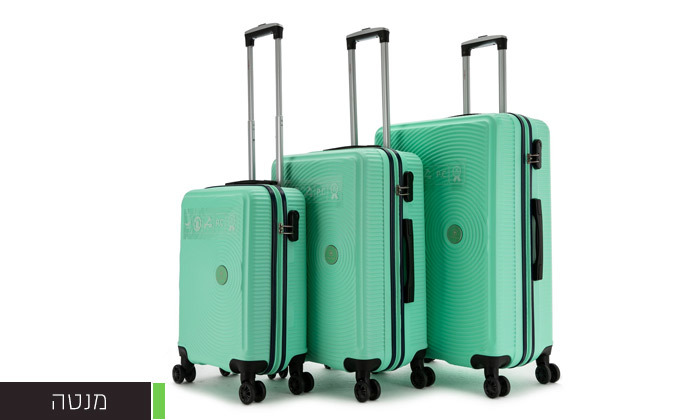 6 סט 3 מזוודות קשיחות SWISS ALPS