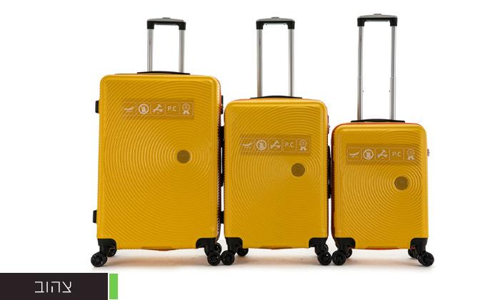 4 סט 3 מזוודות קשיחות SWISS ALPS