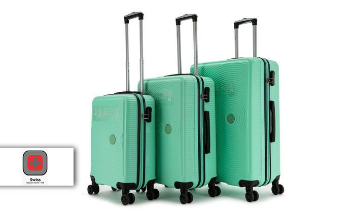 2 סט 3 מזוודות קשיחות SWISS ALPS