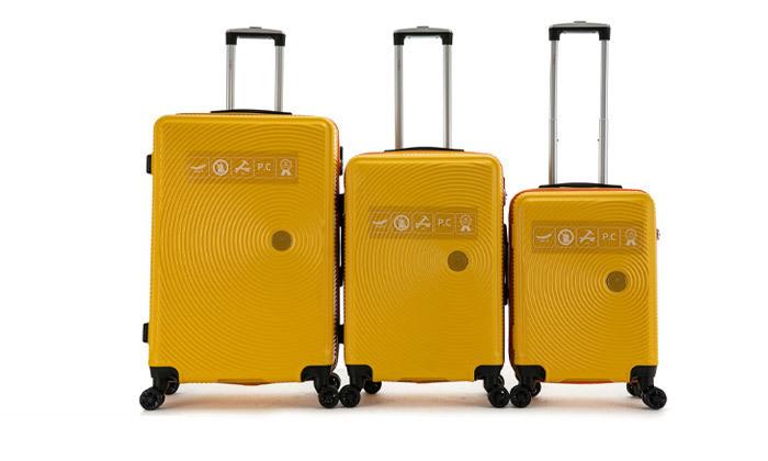 5 סט 3 מזוודות קשיחות SWISS ALPS במבחר צבעים
