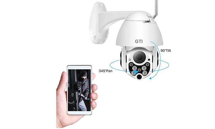 3 מצלמת אבטחה חיצונית ממונעת GTI