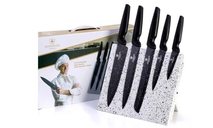 2 סט 5 סכינים עם מעמד מגנט