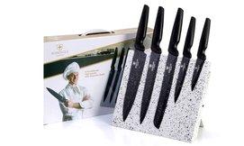 סט 5 סכינים עם מעמד מגנט