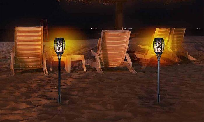 2 לפיד LED סולארי HOMAX