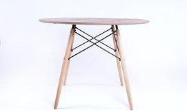 שולחן עץעגול לפינת האוכל