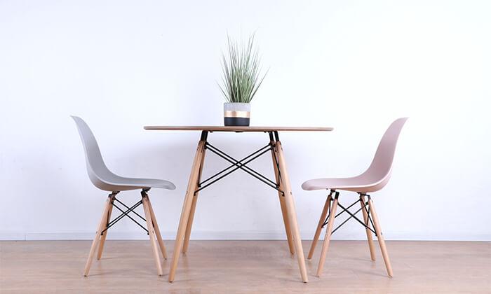 5 שולחן אוכל עגול מעץ
