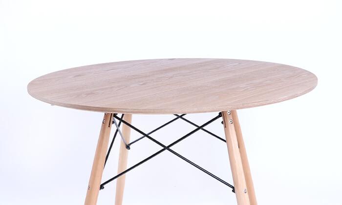 6 שולחן אוכל עגול מעץ