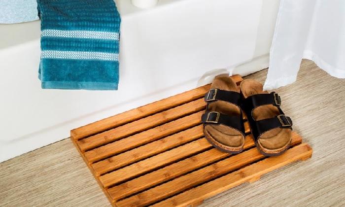 3 משטח במבוק לאמבטיה honey can do