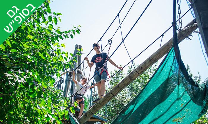 10 חבילת קמפינג משפחתי כולל שייט קיאקים ואטרקציות בקיאקי כפר בלום