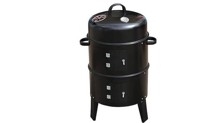 6 מעשנת פחמים ביתית