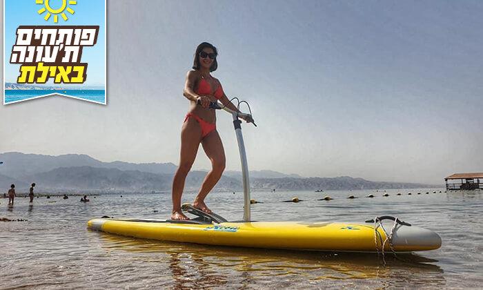 2 גלישה על סטפר סאפ בחוף נביעות, אילת