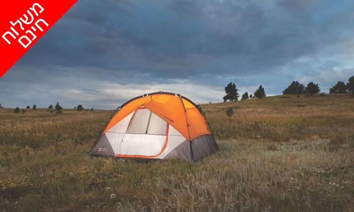 4 אוהל 7 אנשים נפתח ברגע Coleman - משלוח חינם!