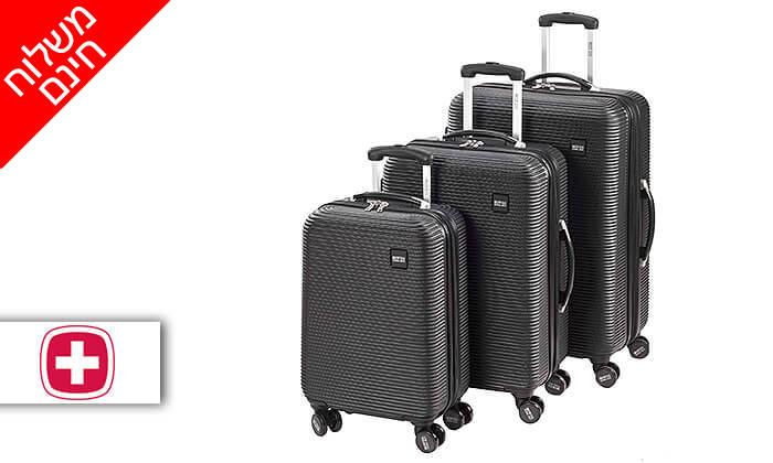 2 סט 3 מזוודות SWISS GLOBAL BAGS - משלוח חינם