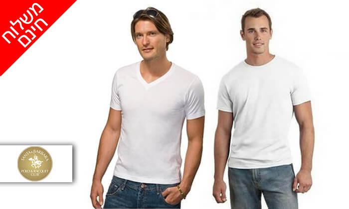 2 דיל ל-72 שעות- סט 9 חולצות טי לגברים SANTA BARBARA POLO CLUB - משלוח חינם