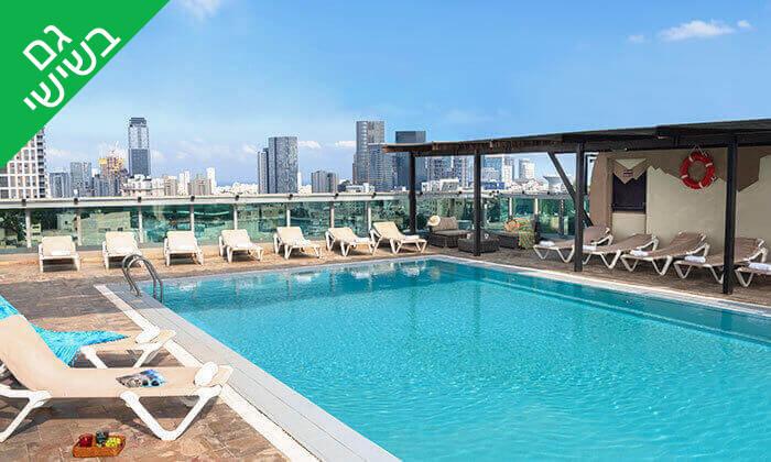 11 יום כיף בבריכה של מלון רימונים טאואר כולל ארוחת בוקר עשירה, רמת גן