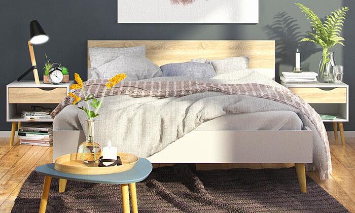 4 מיטה זוגית ו-2 שידות תואמות HOME DECOR