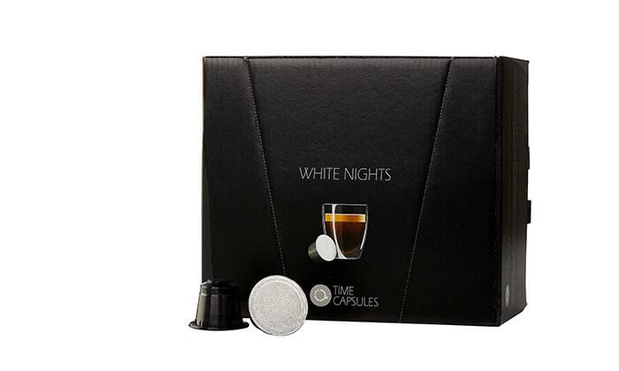 """4 מארז קפסולות קפה Time Capsules במבחר טעמים, כולל כוסות חד""""פ"""