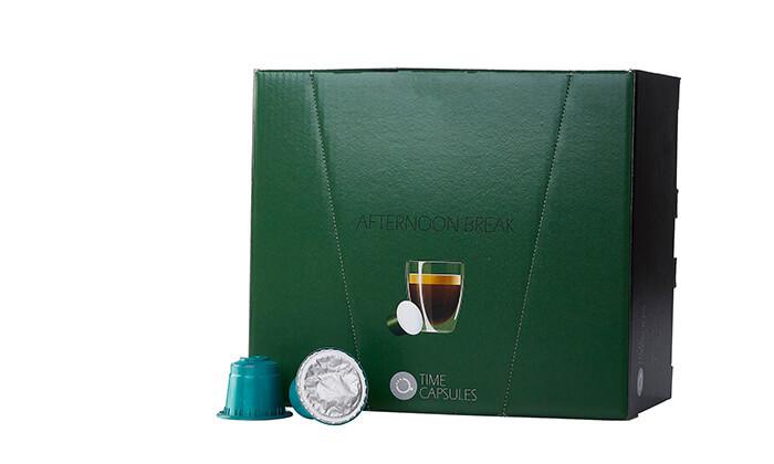 """5 מארז קפסולות קפה Time Capsules במבחר טעמים, כולל כוסות חד""""פ"""