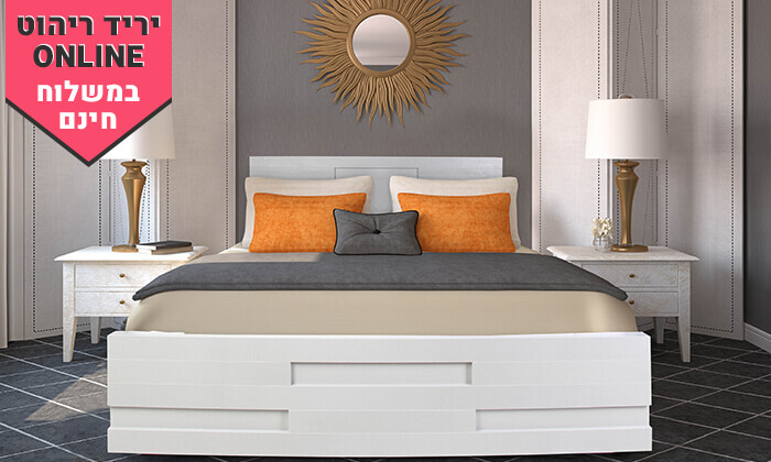 4 אולימפיה: מיטה עם מזרן מתנה - משלוח חינם
