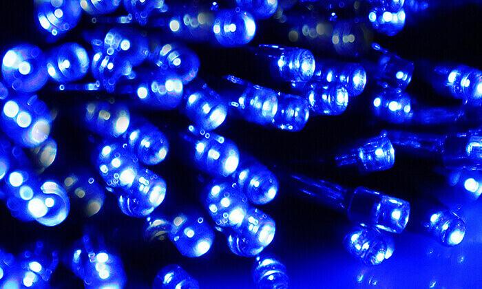 4 סט 7 שרשראות תאורה סולארית באורך 4.5 מטר
