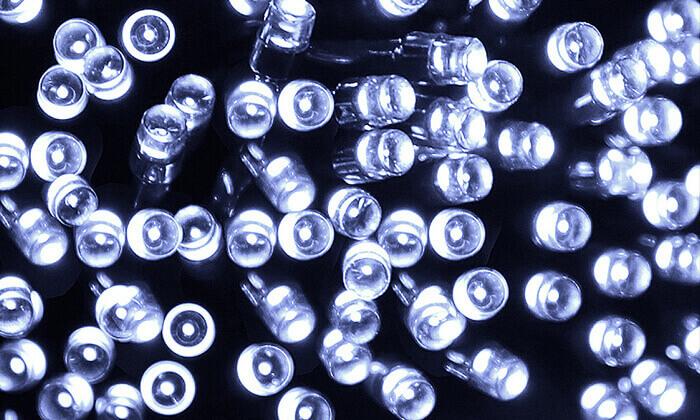 6 סט 7 שרשראות תאורה סולארית באורך 4.5 מטר