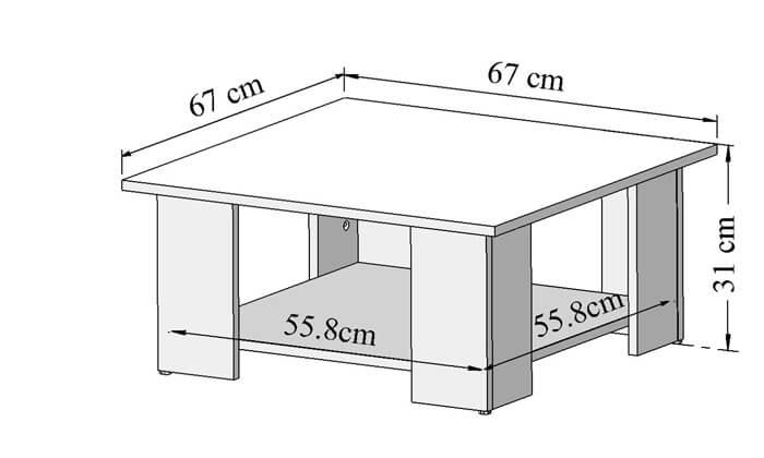 9 שולחן סלון BRADEX דגם SQUARE