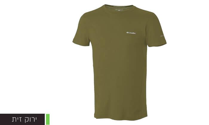 5 חולצה קצרה מנדפת זיעה לגברים Columbia