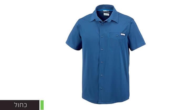 3 חולצה מכופתרת קצרה לגברים Columbia