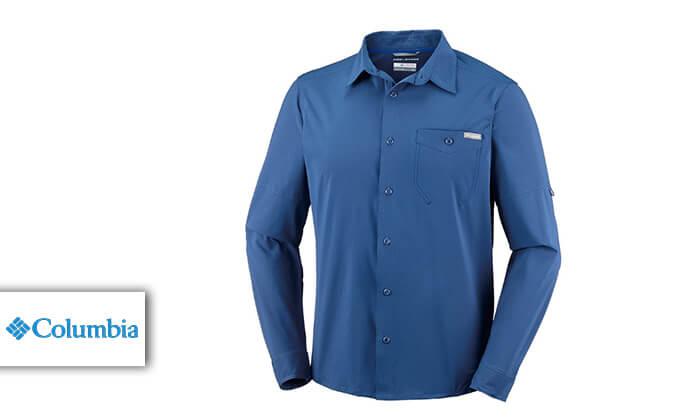 2 חולצה מכופתרת ארוכה לגברים Columbia