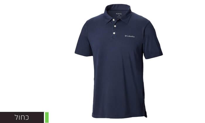 4 חולצת פולו קצרה לגברים Columbia