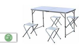 שולחן פיקניק מתקפל עם 4 כסאות