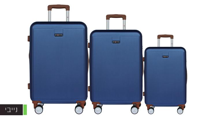 5 סט 3מזוודותקשיחות SWISS PLAZA
