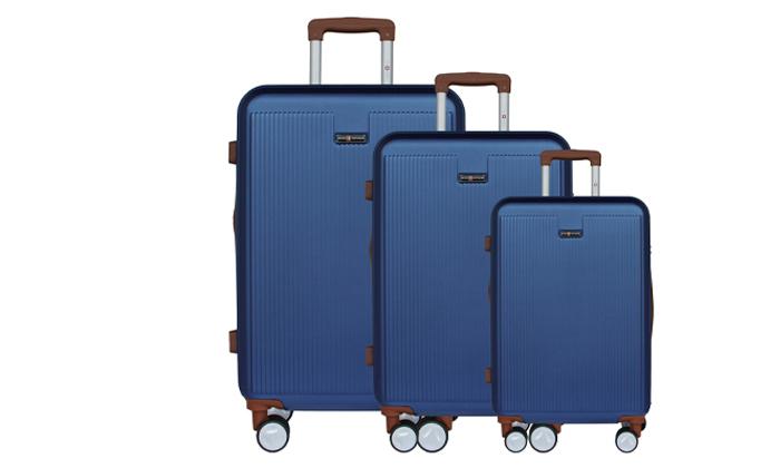11 סט 3מזוודותקשיחות SWISS PLAZA