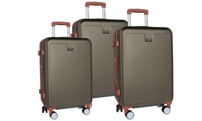 12 סט 3מזוודותקשיחות SWISS PLAZA