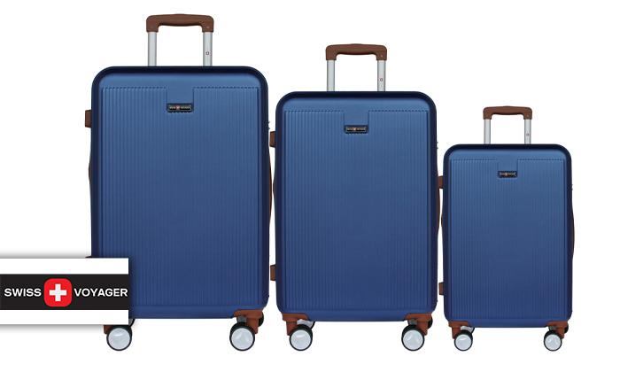 2 סט 3מזוודותקשיחות SWISS PLAZA