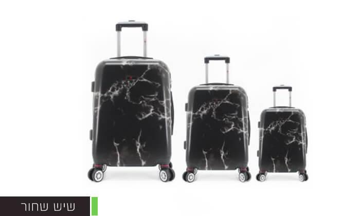 6 סט 3מזוודותקשיחות SWISS PARIS