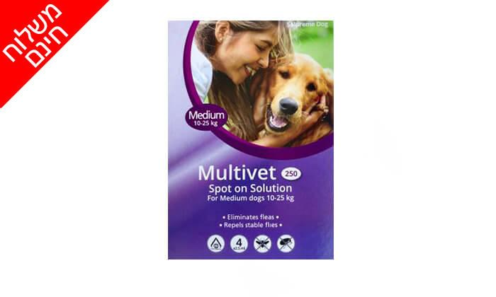 6 אניפט: מארז 4 אמפולות Multivet לכלבים נגד פרעושים - משלוח חינם