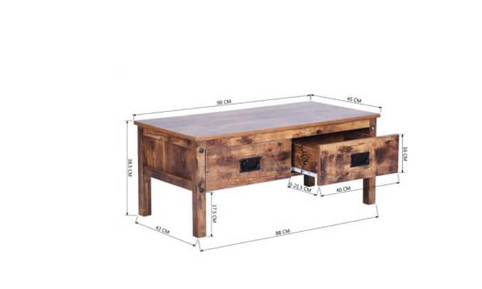 4 שולחן סלון עם מגירות