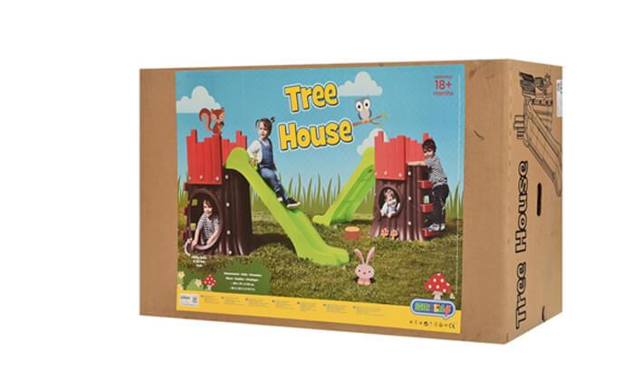 3 מגלשה עם בית משחק לילדים Starplast