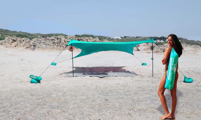 11 צילייה ענקית לים 4x4 מטר Sea & Sun
