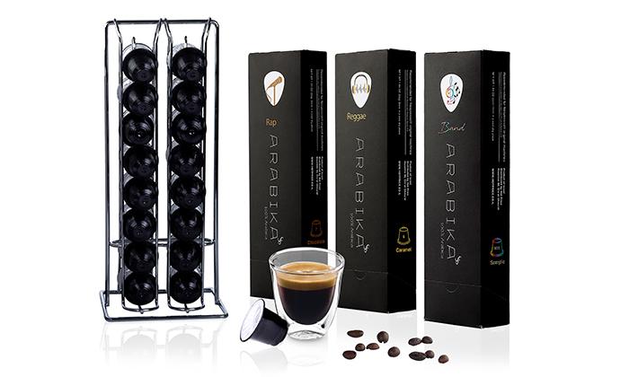 3 מארז קפסולות קפה ARABIKA במבחר טעמים כולל חטיפי אוראו
