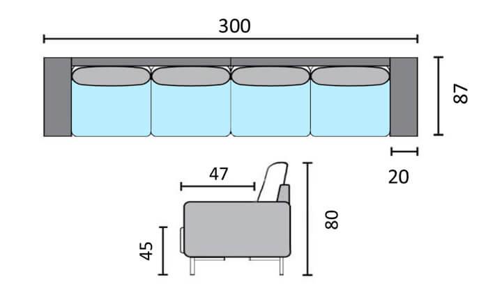 5 שמרת הזורע: ספת ארבעה מושבים