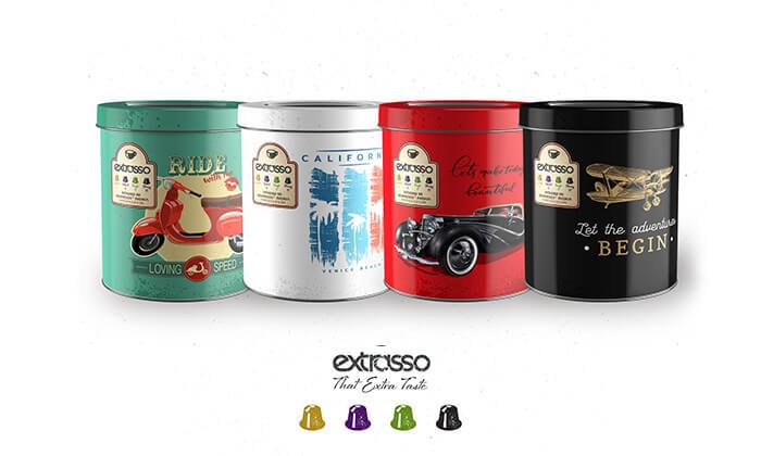 2 50 קפסולות קפה Extrasso באריזת פח