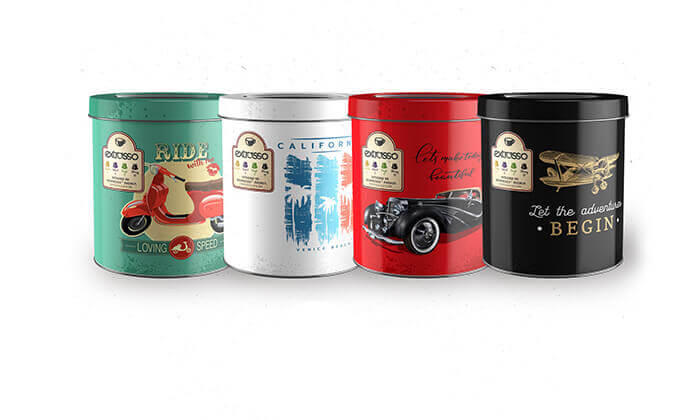 10 50 קפסולות קפה Extrasso באריזת פח