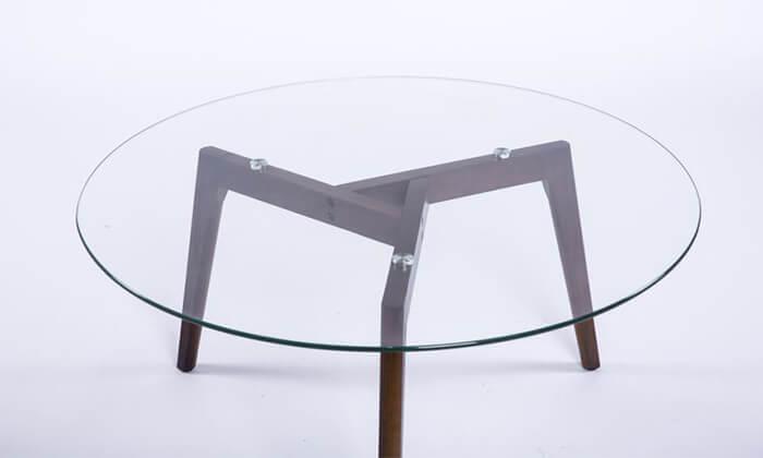 3 שולחן זכוכית עגול