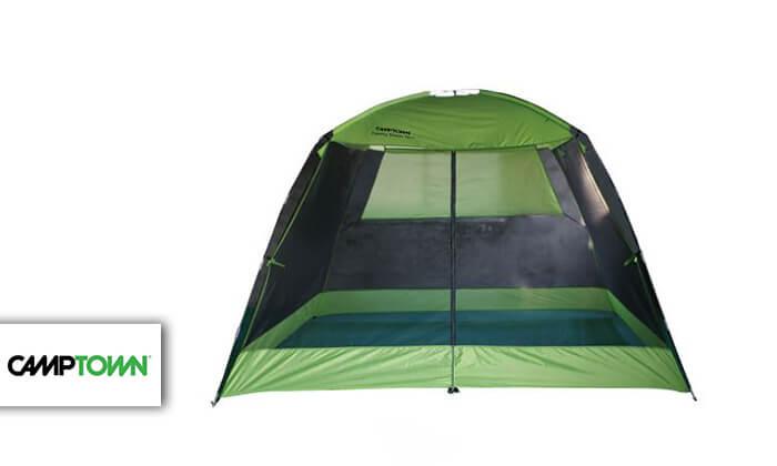 2 אוהל משפחתי CAMPTOWN דגם SAVANA ל-8 אנשים