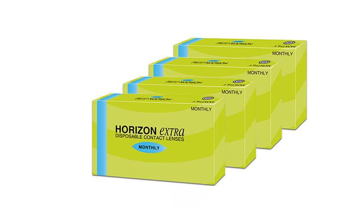 3  4 אריזות של עדשות מגע חודשיות HORIZONEXTRA ברשת אופטיקנה