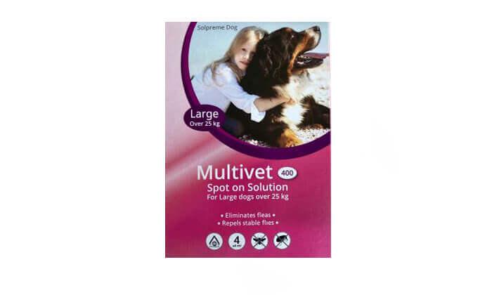 3 אמפולה נגד פרעושים לכלבים Multivet