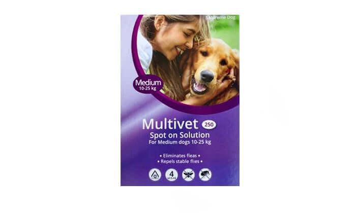 6 אמפולה נגד פרעושים לכלבים Multivet