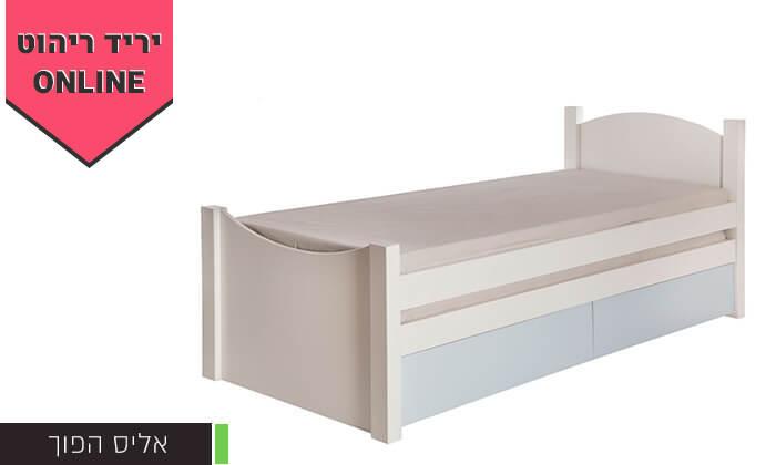 3 מיטת ילדים ונוער דגם אליס עם מיטת חבר
